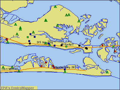 Morehead City, North Carolina environmental map by EPA