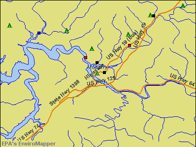 Murphy, North Carolina environmental map by EPA