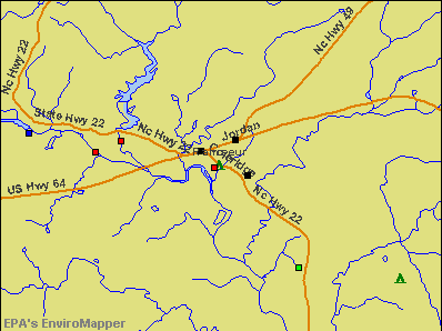 Ramseur, North Carolina environmental map by EPA