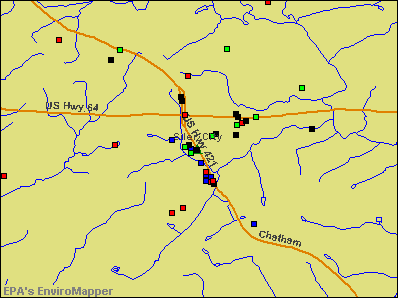 Siler City, North Carolina environmental map by EPA