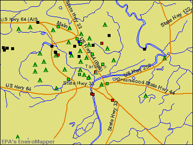 Tarboro, North Carolina environmental map by EPA