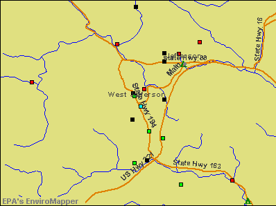 West Jefferson, North Carolina environmental map by EPA