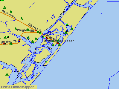 Wrightsville Beach, North Carolina environmental map by EPA