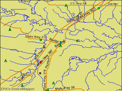 Ward, Arkansas environmental map by EPA
