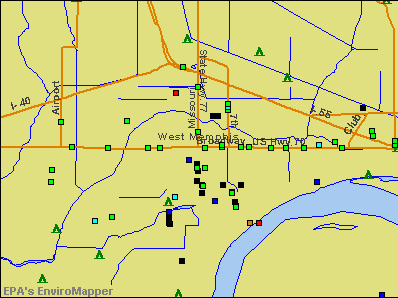 West Memphis, Arkansas environmental map by EPA