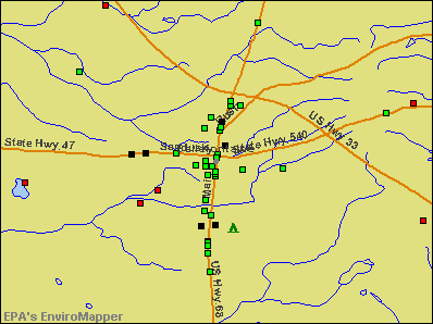 Bellefontaine, Ohio environmental map by EPA