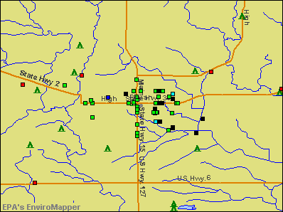 Bryan, Ohio environmental map by EPA