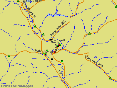 Caldwell, Ohio environmental map by EPA