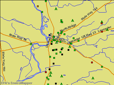 Circleville, Ohio environmental map by EPA