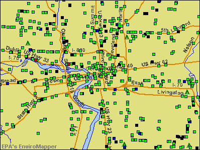 Columbus, Ohio environmental map by EPA