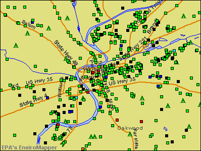 Dayton, Ohio environmental map by EPA