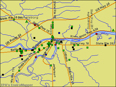 Defiance, Ohio environmental map by EPA