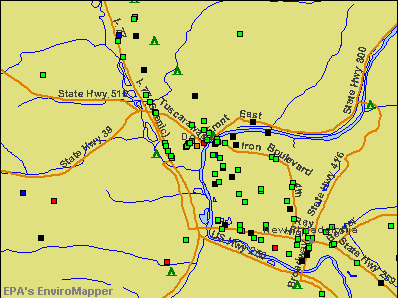 Dover, Ohio environmental map by EPA