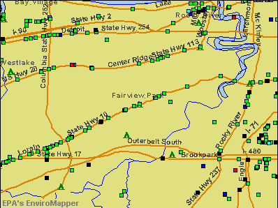 Fairview Park, Ohio environmental map by EPA