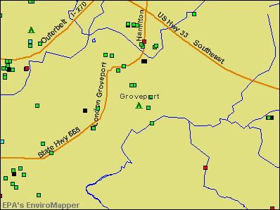 Groveport, Ohio environmental map by EPA