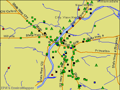Hamilton, Ohio environmental map by EPA