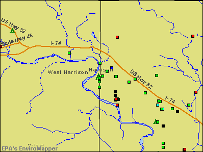 Harrison, Ohio environmental map by EPA