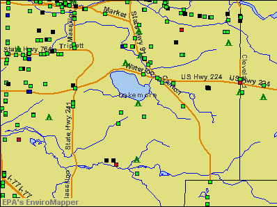 Lakemore, Ohio environmental map by EPA