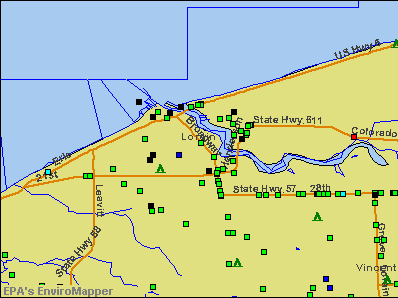 Lorain, Ohio environmental map by EPA