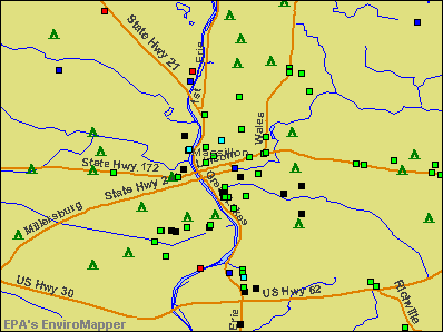 Massillon, Ohio environmental map by EPA