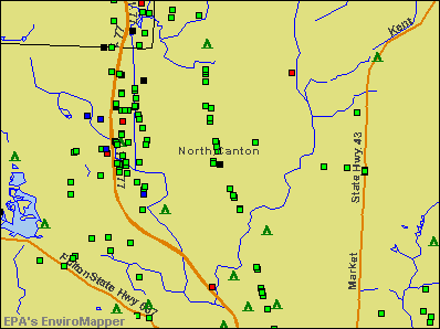 North Canton, Ohio environmental map by EPA