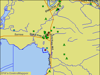 Arcata, California environmental map by EPA