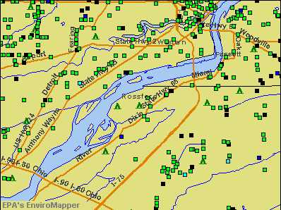Rossford, Ohio environmental map by EPA