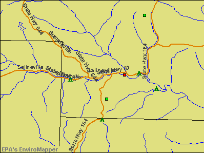 Salineville, Ohio environmental map by EPA