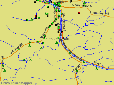 South Zanesville, Ohio environmental map by EPA