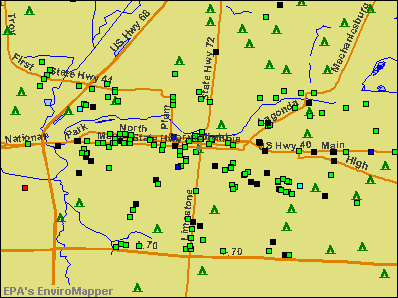 Springfield, Ohio environmental map by EPA