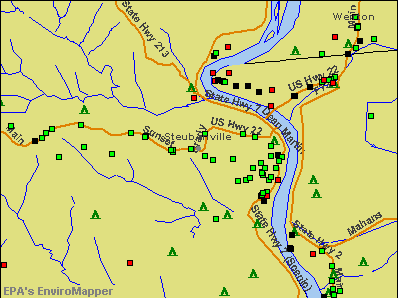 Steubenville, Ohio environmental map by EPA