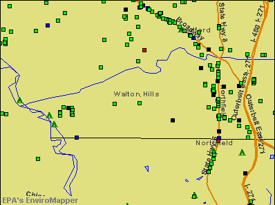 Walton Hills, Ohio environmental map by EPA