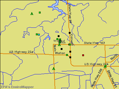 Willard, Ohio environmental map by EPA