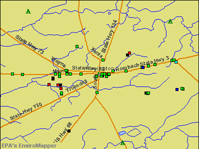 Wilmington, Ohio environmental map by EPA