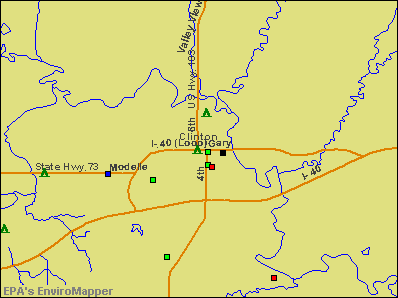 Clinton, Oklahoma environmental map by EPA