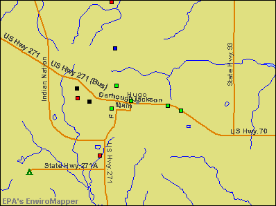 Hugo, Oklahoma environmental map by EPA