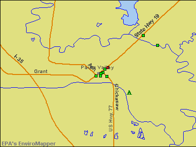 Pauls Valley, Oklahoma environmental map by EPA
