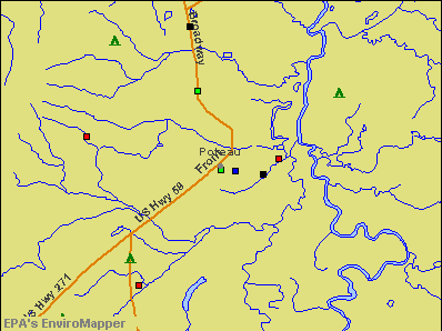 Poteau, Oklahoma environmental map by EPA