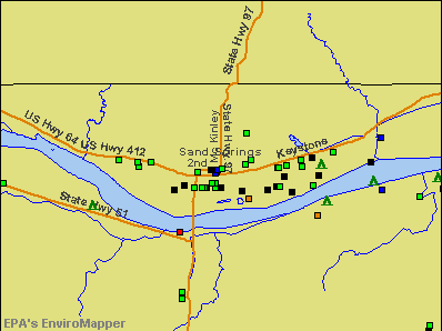 Sand Springs, Oklahoma environmental map by EPA