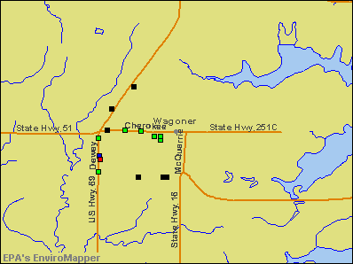 Wagoner, Oklahoma environmental map by EPA