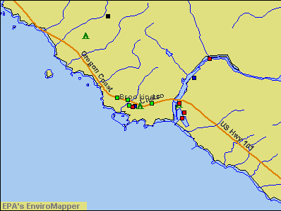 Brookings, Oregon environmental map by EPA