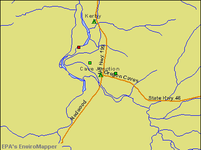 Cave Junction, Oregon environmental map by EPA
