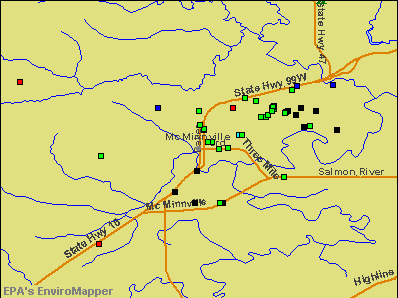 McMinnville, Oregon environmental map by EPA