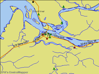 Reedsport, Oregon environmental map by EPA