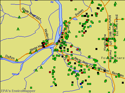 Salem, Oregon environmental map by EPA