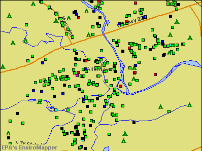 Allentown, Pennsylvania environmental map by EPA