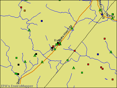 Bally, Pennsylvania environmental map by EPA