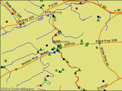 Bellefonte, Pennsylvania environmental map by EPA