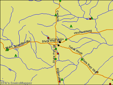 Biglerville, Pennsylvania environmental map by EPA