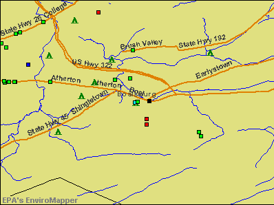 Boalsburg, Pennsylvania environmental map by EPA